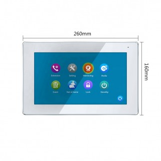 7 Inch LCD 4-Draads Monitor...